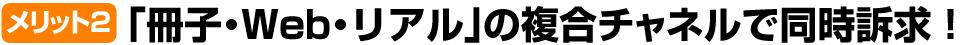 「冊子・Web・リアル」の複合チャネルで同時訴求!