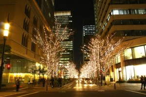 クリスマスの夜景