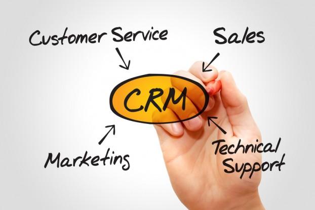Customer relationship management (CRM) diagram, business concept