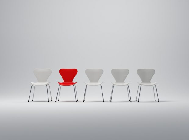 red one chair