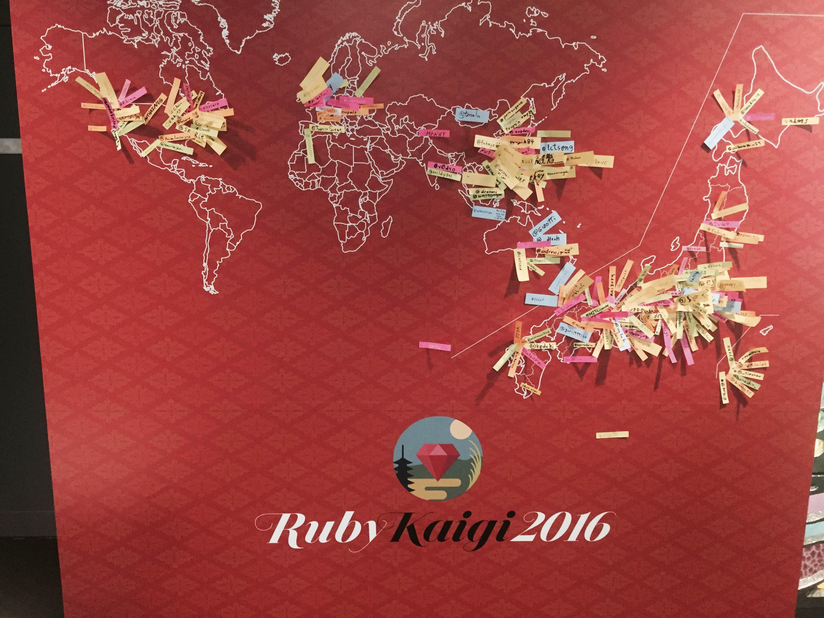 全国、世界各国から参加者があり、海外の方も目立つ。